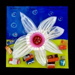Dream Flower - Mixed Media and Recycled Materials